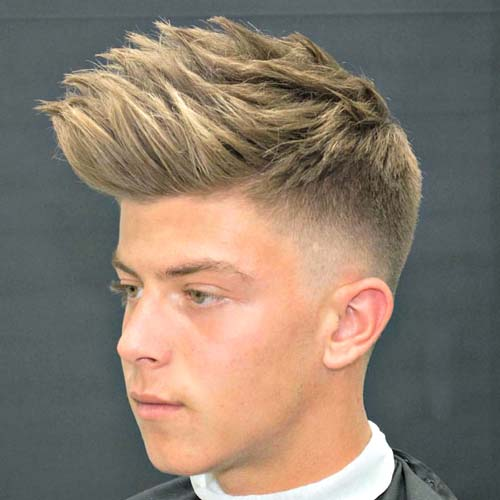 Low Taper Fade with Spiky Hair