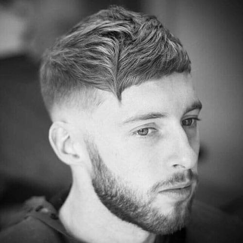 Low Taper with Angular Cropped Hair and Beard