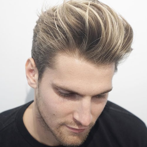 Messy Quiff with Tapered Sides and Beard