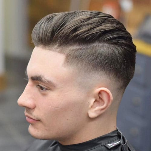 Mid Fade with Textured Brush Back