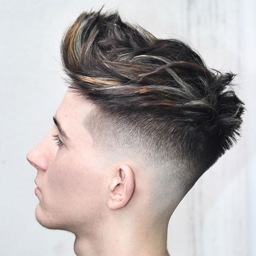Short Sides with Textured Medium Length Hair on Top