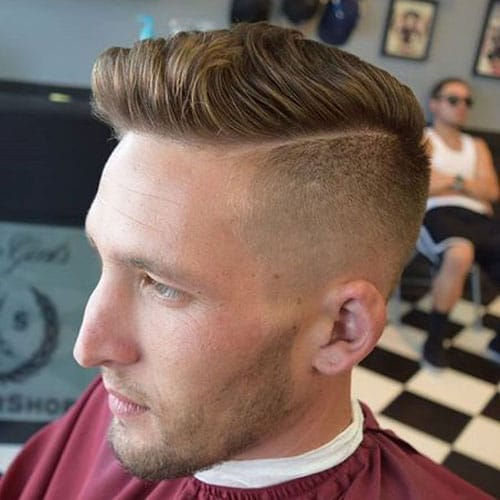 Undercut Fade with Hard Side Part