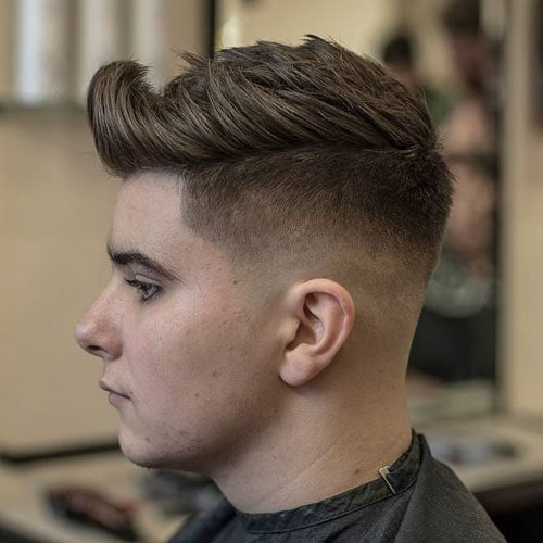 Undercut Fade with Thick Textured Hair