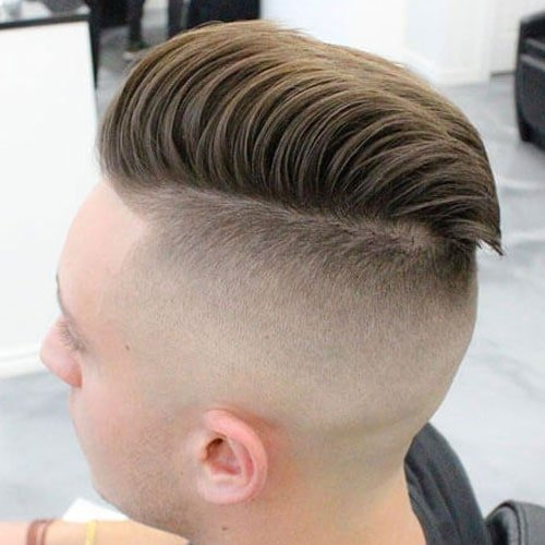 Undercut with Comb Over Pomp