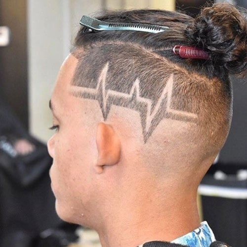 Cool Haircut Designs For Guys - Shaved Lines