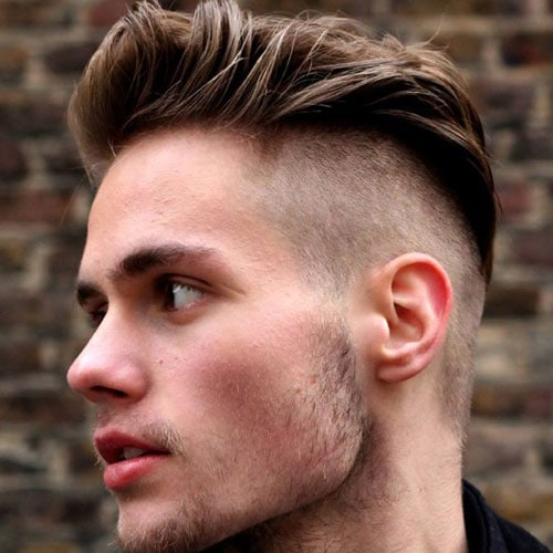 Disconnected Undercut with Thick Quiff