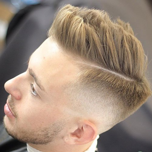 High Fade with Spiky Hair
