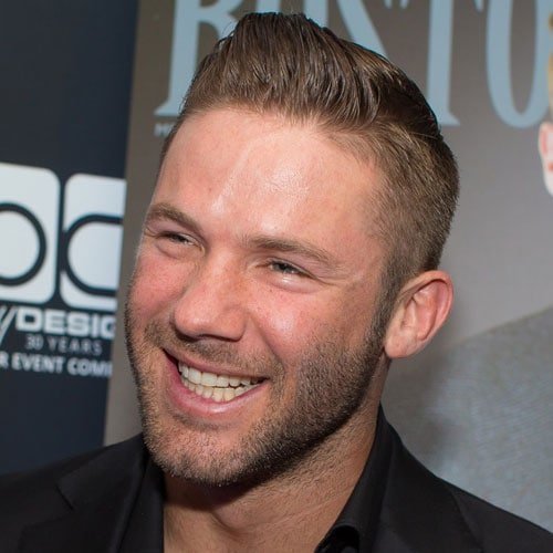Great Julian Edelman Hair   Brushed Up Fringe With Short Sides