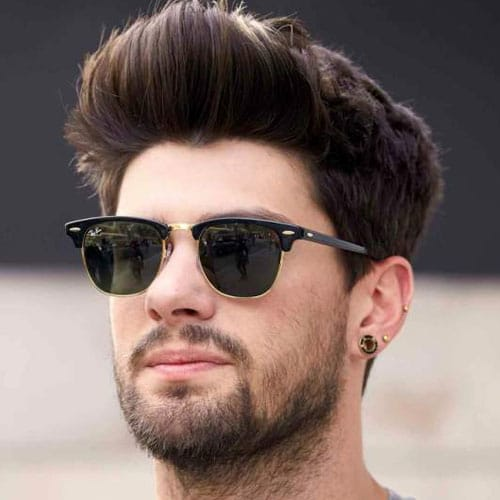 Quiff with Tapered Sides and Beard