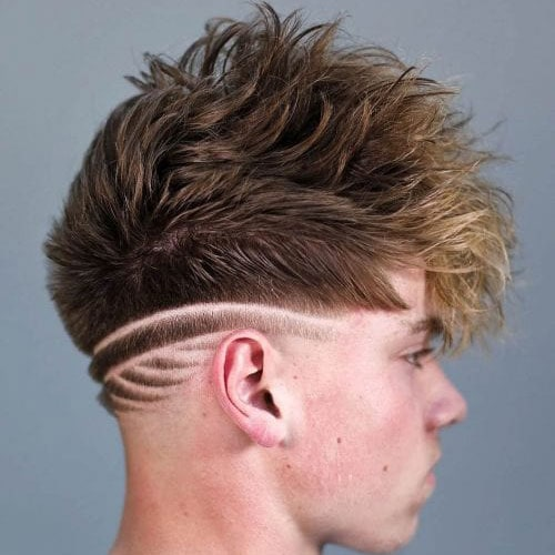 Shaved Designs in Men's Hair