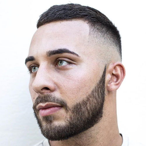 Tape Up Fade with Crew Cut and Beard