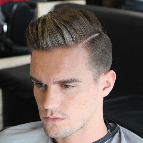 Elegant Tapered Sides With Parted Comb Over