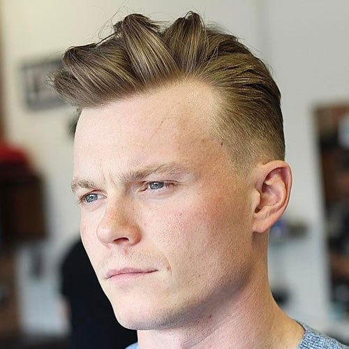 Textured Quiff with Low Fade