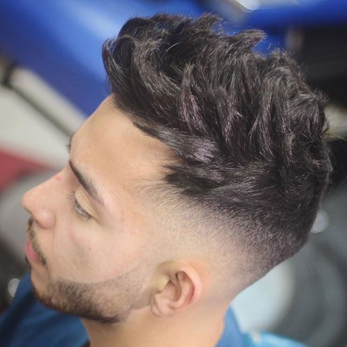 Textured Spiky Hair with High Skin Fade