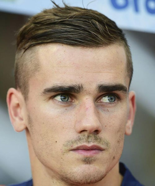 Antoine Griezmann - High Skin Fade with Comb Over
