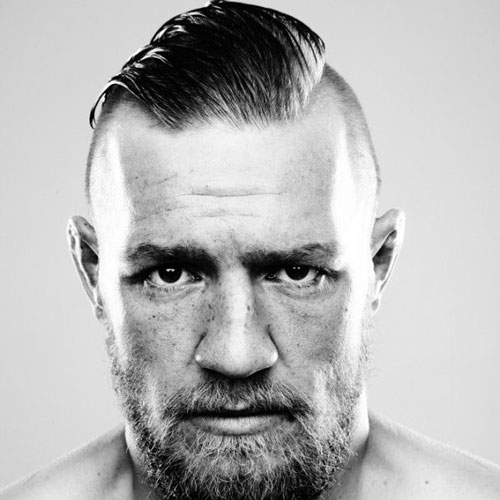 Conor McGregor Hair - Shaved Sides + Long Slick Back Hair