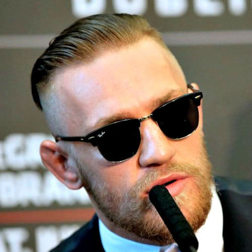 Conor McGregor Haircut Styles - Slicked Back Undercut + Beard