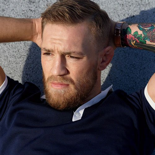 Conor McGregor Haircut - Taper Fade + Side Part + Beard