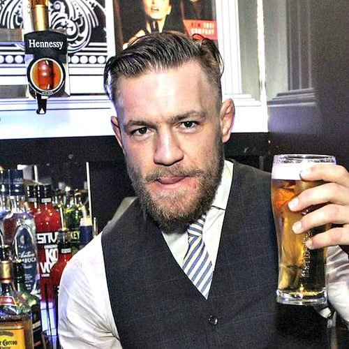 Conor McGregor Hairstyle - Long Angular Comb Over + Fade + Beard