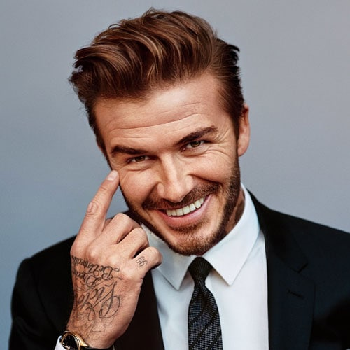 David Beckham - Quiff with Short Sides and Beard