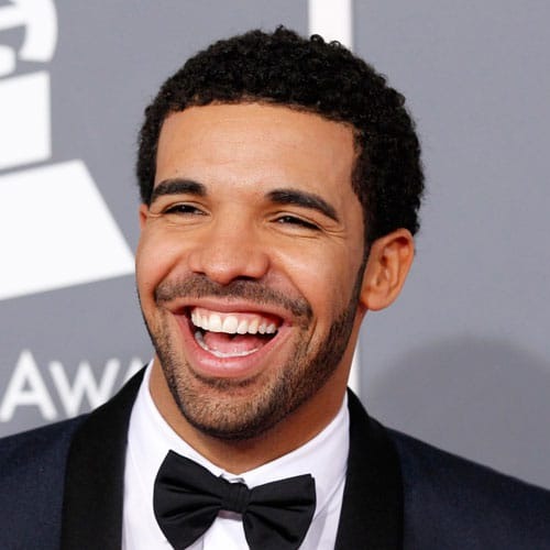 Drake Hairstyle - Short Curly Afro + Facial Hair