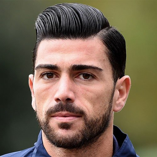 Graziano Pellè - Hard Part Comb Over with Beard