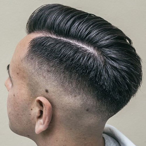 Hard Comb Over + Shaved Fade