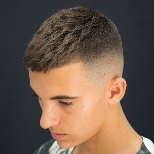 High Bald Fade + Textured Crew Cut