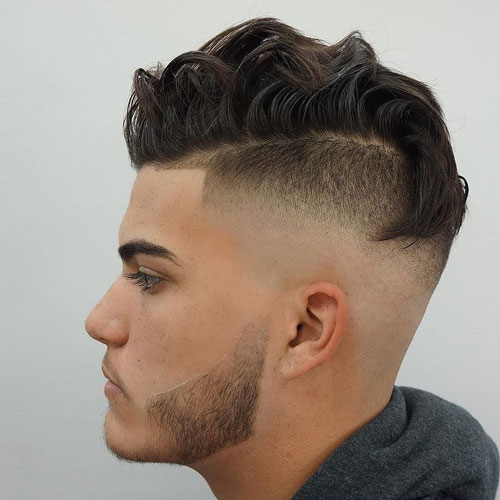 High Shaved Sides Fade + Faux Hawk