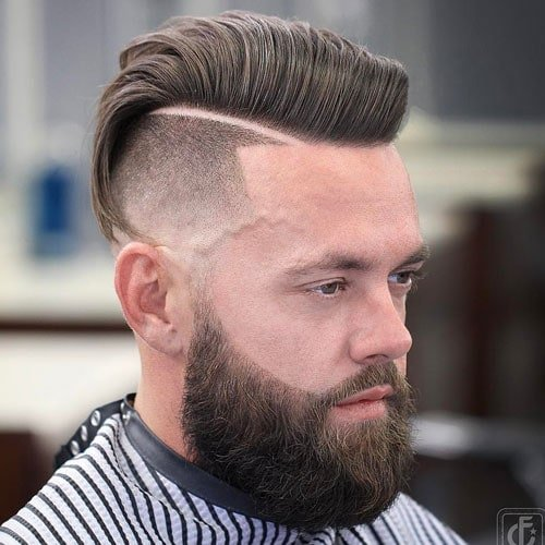 Hipster Short Sides + Long Top + Beard + Hard Part