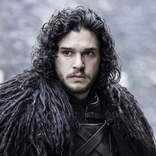 Jon Snow Hair - Long Hair with Curls and Facial Hair