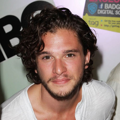 Kit Harington Hair - Thick Flowing Curly Hair with Beard