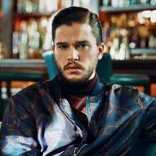 Kit Harington Short Hair - Hard Part Comb Over