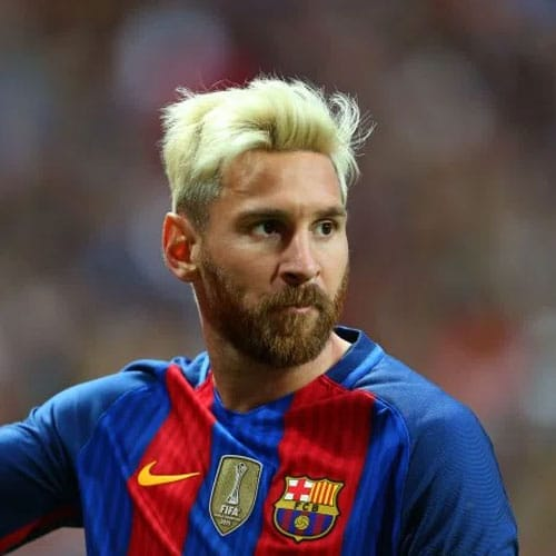 Lionel Messi - Messy Blonde Hair with Beard