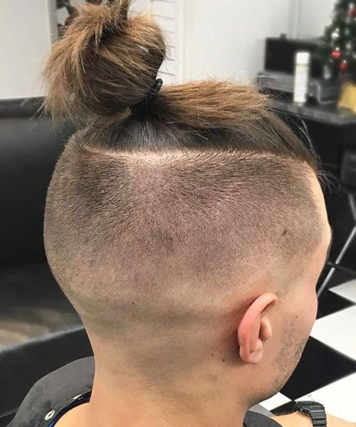 Long Hair with Buzzed Sides