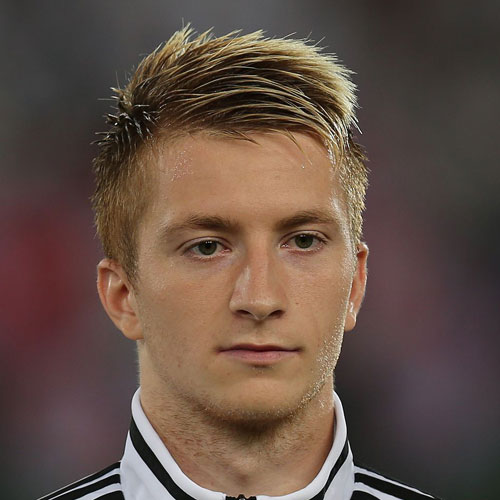 Marco Reus Hair - Spiky Comb Over + Short Sides