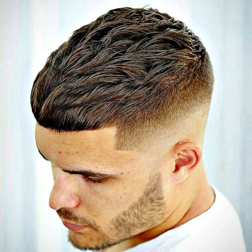 Mid Fade + Textured Cropped Hair