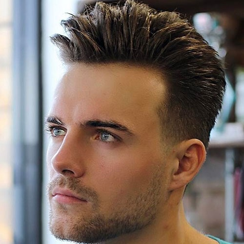 Quiff + Low Taper Fade