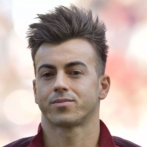 Stephan El Shaarawy - High Fade with Messy Faux Hawk
