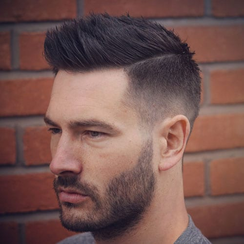 Taper Fade + Part + Textured Spiky Hair