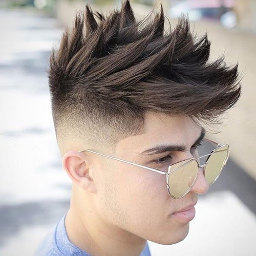 Textured Spiky Hair + High Skin Fade