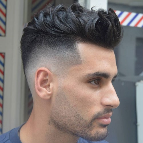 Messy Wavy Hair + Bald Fade + Shape Up