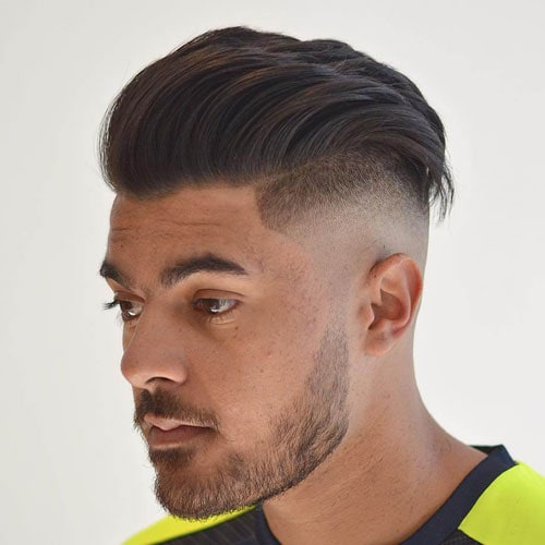 Skin Fade Undercut + Textured Slick Back Hair
