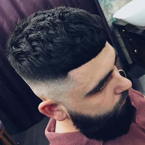 Textured French Crop + Shaved Fade + Beard