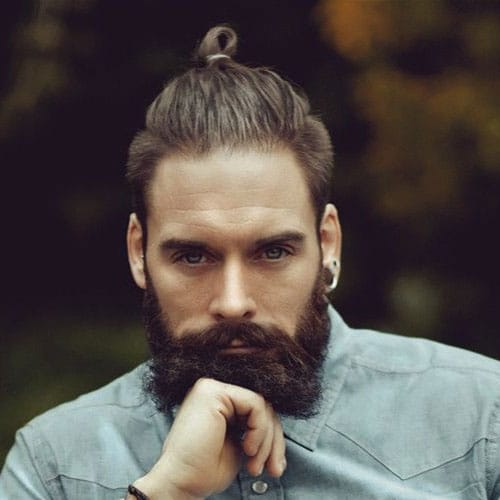 Top Knot + Short Sides + Beard