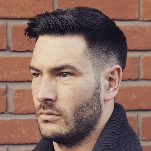 Classic Taper Fade + Short Top + Side Sweep