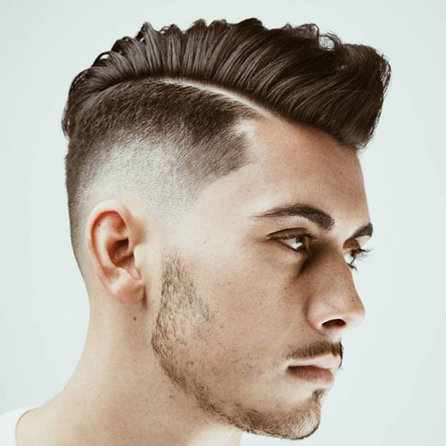 Comb Over Fade + Hard Part
