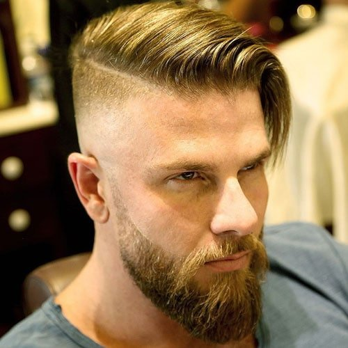 Nice Comb Over + Shaved Sides + Beard