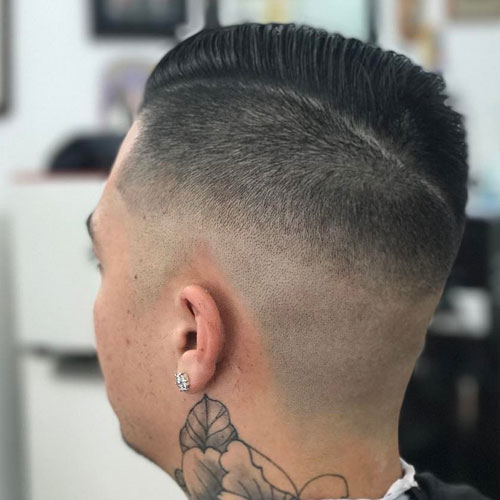 Comb Over + Undercut Fade