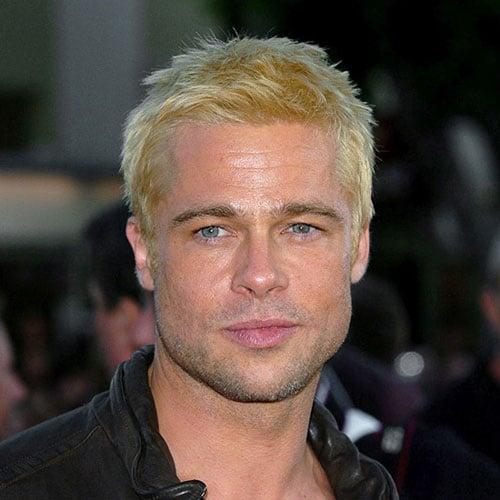 Brad Pitt Crew Cut + Blonde Hair